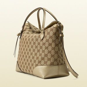 Gucci Bree Original GG Top Handle Bag Crossbody